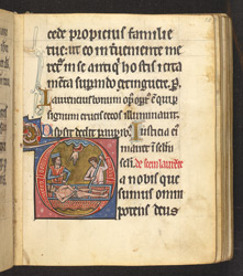 Historiated Initial With The Martyrdom Of St. Lawrence, In 'The De Brailes Hours'
